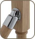 chrome handrail connector