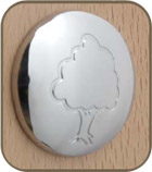 chrome cover button